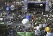 zzzznacp2 NOTICIAS ARGENTINAS BAIRES, AGOSTO 22: Aspecto de la concentracion de la CGT en plaza de Mayo. Foto NA: AFP-JUAN MABROMATA zzzz