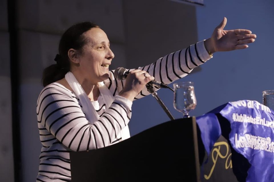 Alejandra Estoup, secretaria general de la Bancaria Buenos Aires