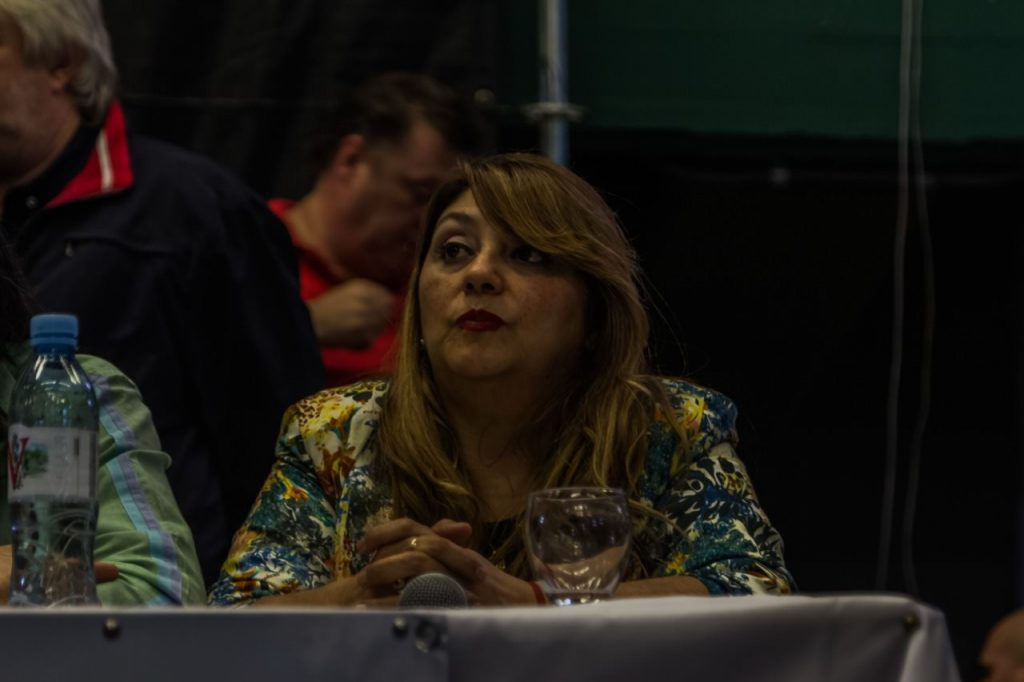 Andrea Aranda, secretaria general del Sindicato de Choferes Particulares