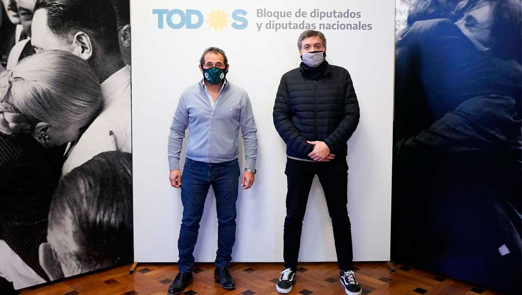Sasia y Máximo Kirchner se reunieron en medio de la interna de la CGT