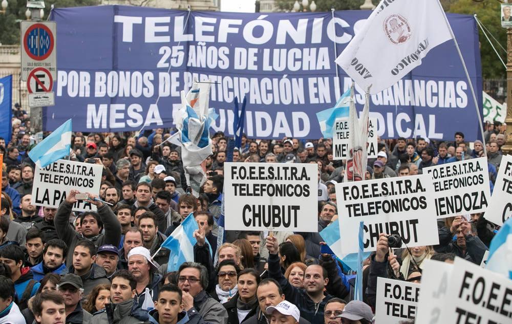 Aumento para los telefónicos