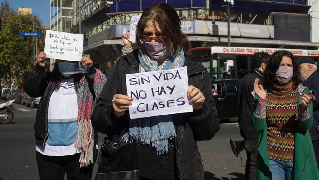 Protesta de UTE
