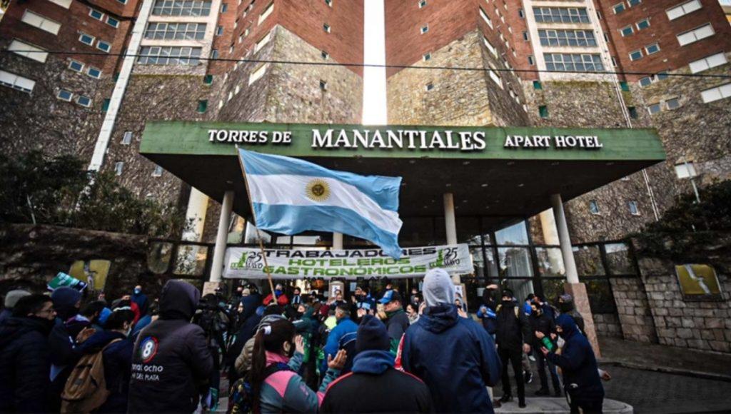 Protestas de trabajadores de Torres de Manantiales